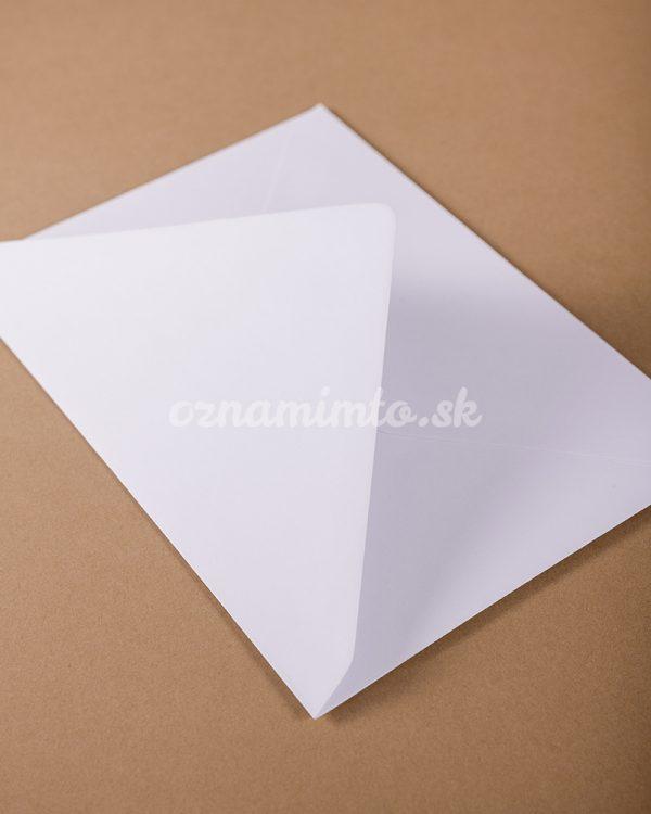 biela obálka c6