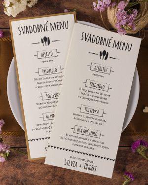 f0a0e1ef5f37 Svadobné menu vo vintage štýle - Vintage 03 - oznamimto.sk
