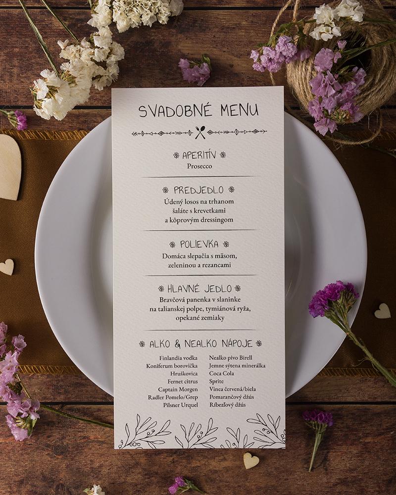 19aba1f23a9a Svadobné menu vo vintage štýle - Vintage 02 - oznamimto.sk