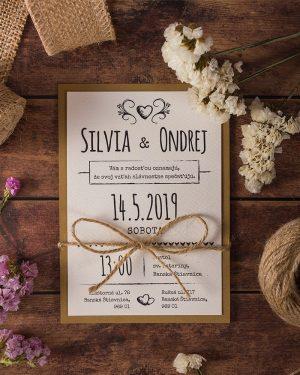 svadobné oznámenia vintage