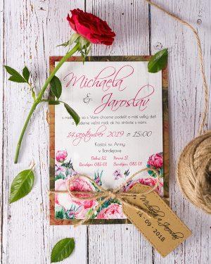 svadobné oznámenia šípová ruža