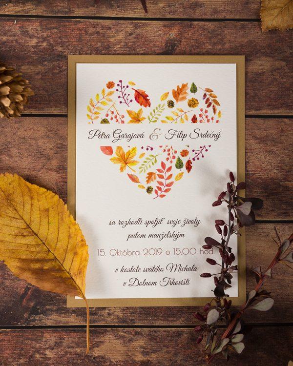 svadobné oznámenia jeseň