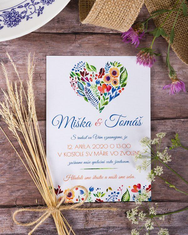 folklórne svadobné oznámenia