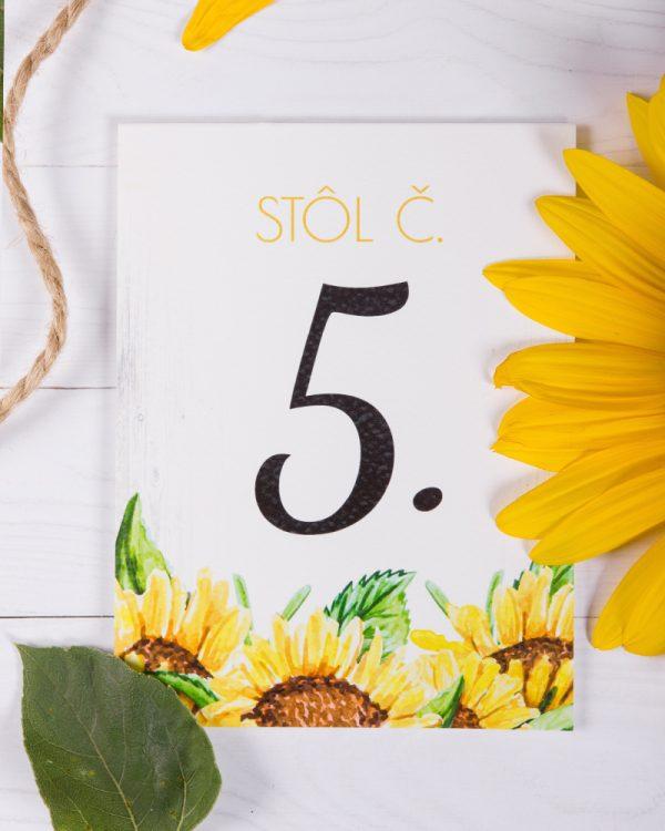 svadobné číslovanie slnečnica