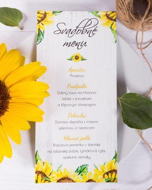 svadobné menu slnečnica