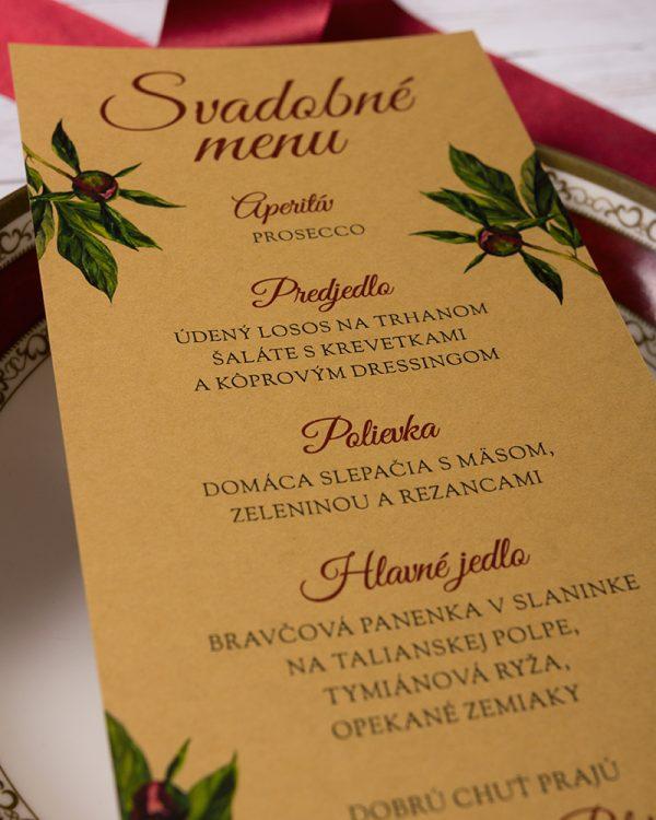 svadobne menu bordove pivone