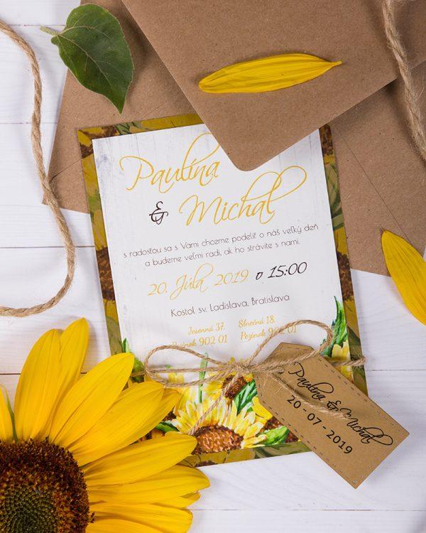 svadobné oznámenia slnečnice