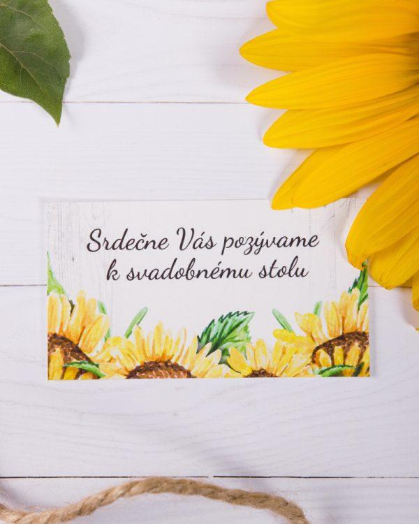 svadobné pozvánky slnečnice