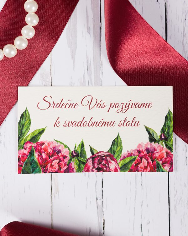 svadobne pozvanky s pivonami