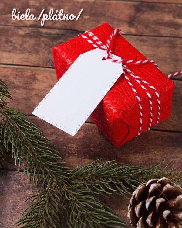 vianočné visačky čisté