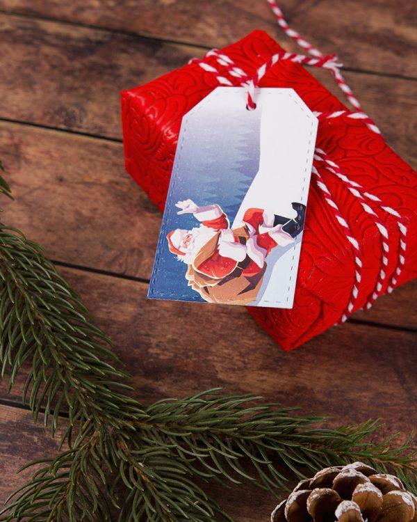 vianočné visačky menovky so stromčekom