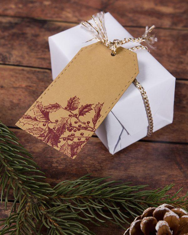 vintage vianočné visačky menovky