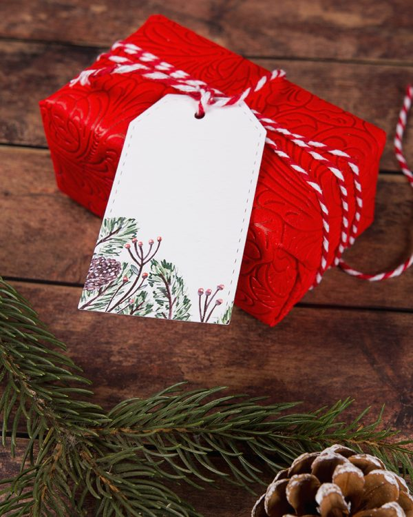 vianočné visačky menovky s maľovaným motívom