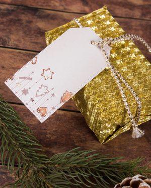 vianočné visačky menovky s medovníkmi