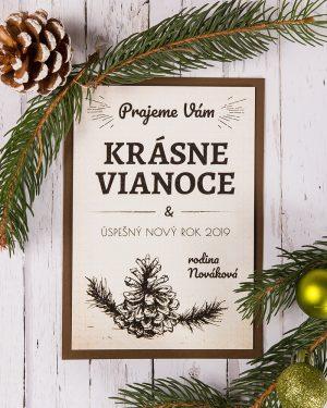 vianočný pozdrav / prianie / pohľadnica / pf 2019 s vintage motívom