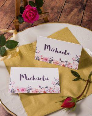 Menovky na stôl ruže