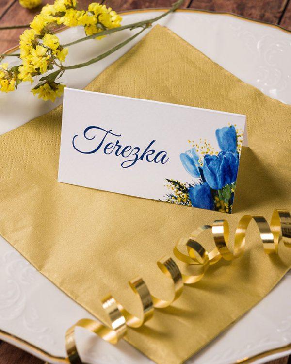 Menovky na stôl tulipany