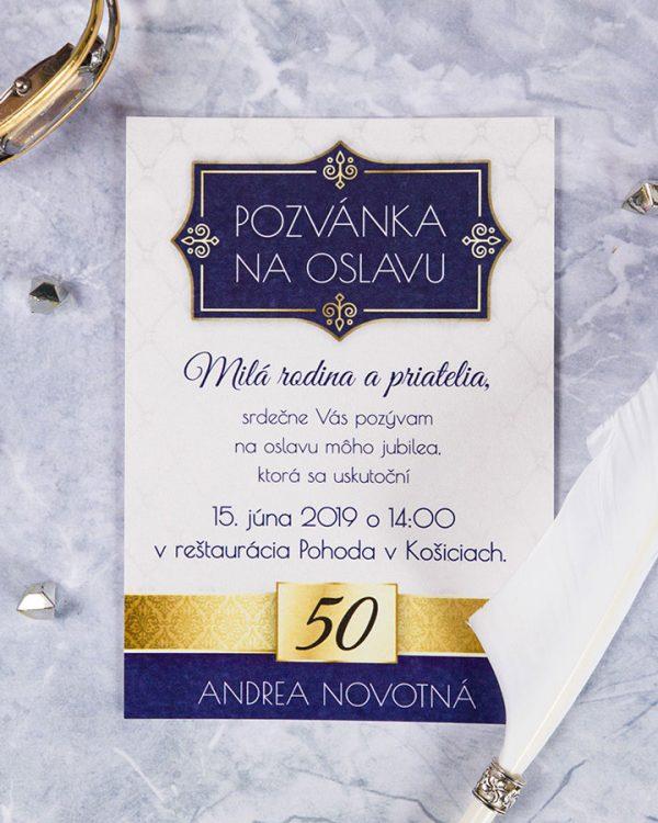 pozvanka na narodeniny s kralovskym motivom