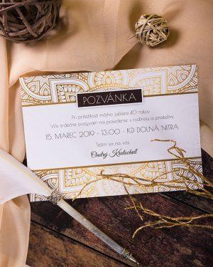 pozvánky na oslavu luxusné