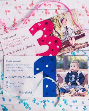 Narodeninová pozvánka s fotkou