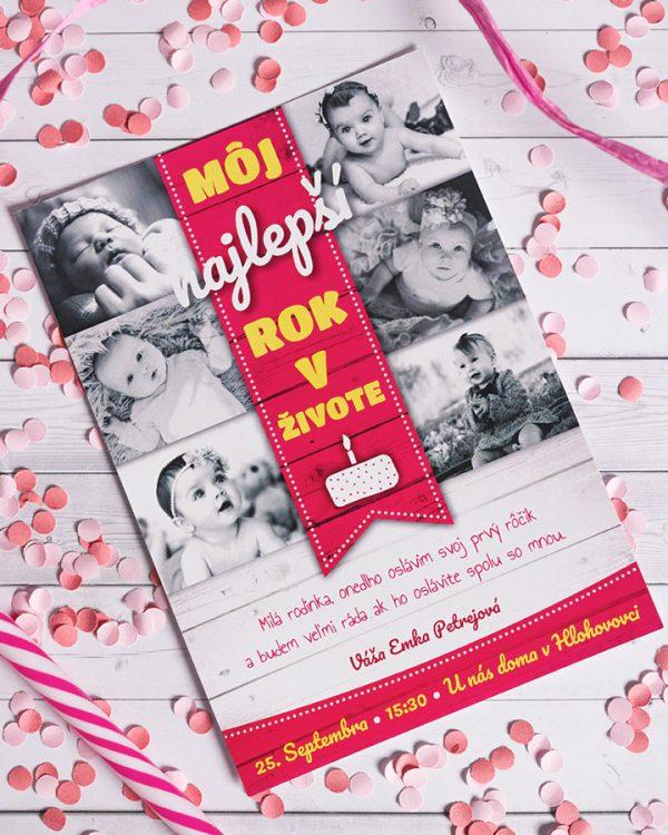 pozvánka detské narodeniny koláž fotiek