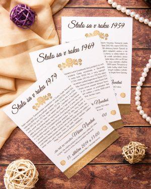 elegantná pozvánka na narodeniny ročníkovka