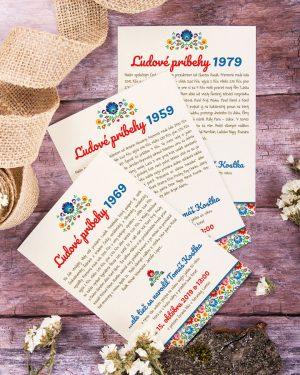 ludove pozvánky na oslavu jubilea a narodenín ročníkovka