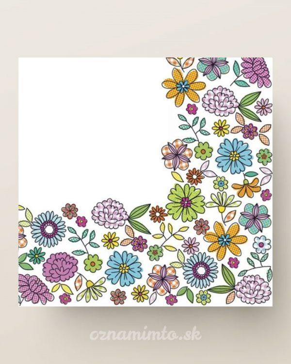 papierove servítky kreslené kvety