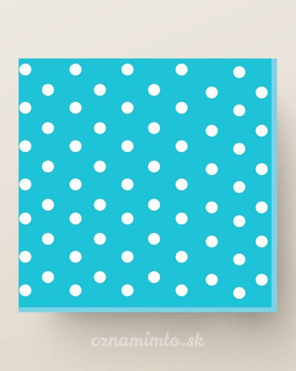 papierove servítky modréé biele bodky