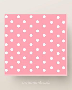 papierove servítky ružové biele bodky