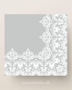 papierove servitky strieborny ornament