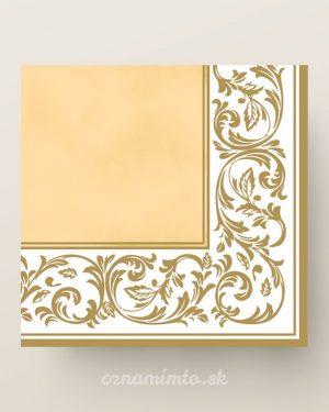 papierove servítky zlatý ornament