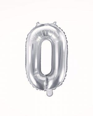 Balón číslo 0 strieborný 35cm