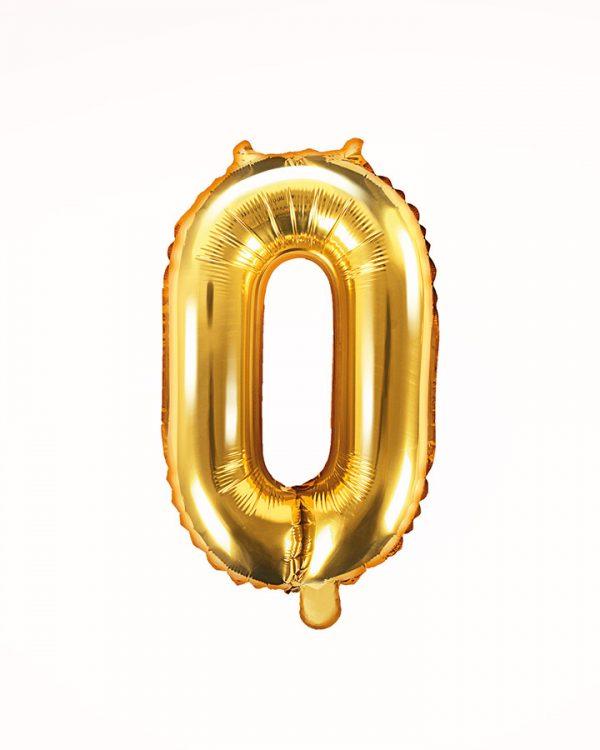 Balón číslo 0 zlatý 35cm