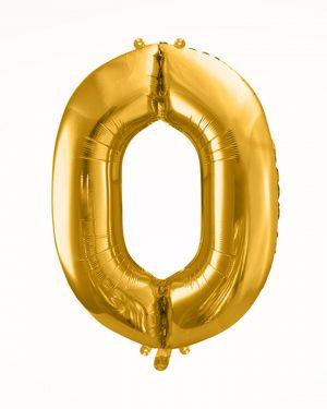 Balón číslo 0 zlatý
