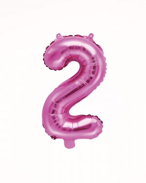 Balón číslo 2 ružový 35cm