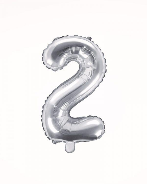 Balón číslo 2 strieborný 35cm