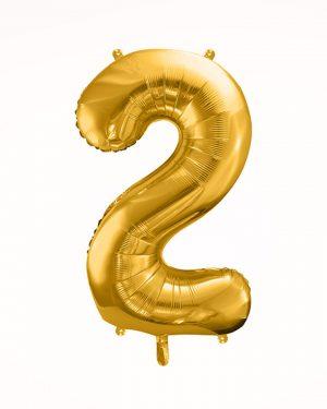 Balón číslo 2 zlatý