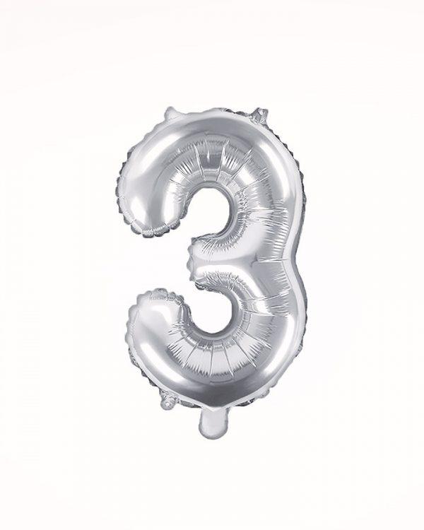 Balón číslo 3 strieborný 35cm