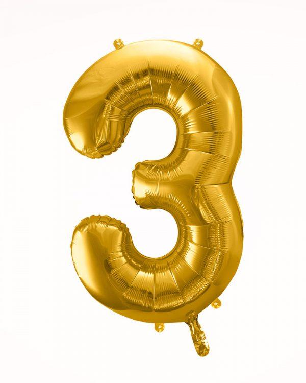 Balón číslo 3 zlatý