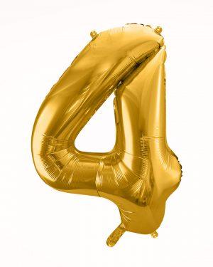 Balón číslo 4 zlatý