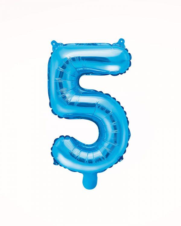 Balón číslo 5 modrý 35cm