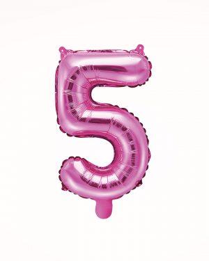 Balón číslo 5 ružový 35cm