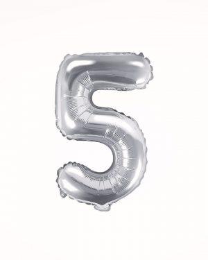Balón číslo 5 strieborný 35cm