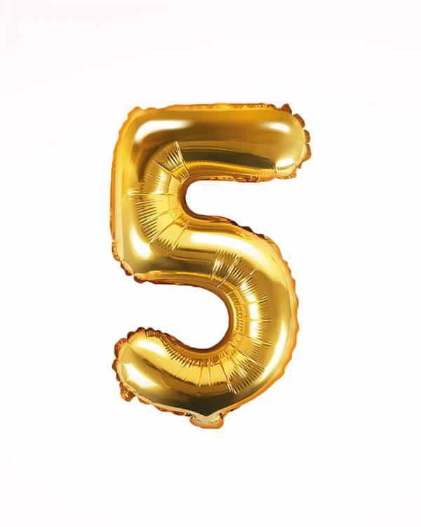 Balón číslo 5 zlatý 35cm