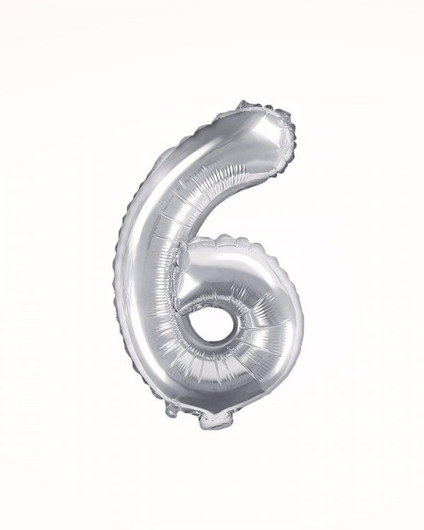 Balón číslo 6 strieborný 35cm