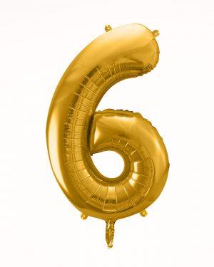 Balón číslo 6 zlatý