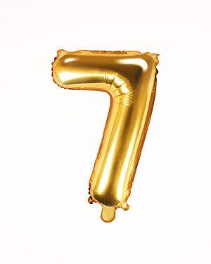 Balón číslo 7 zlatý 35cm