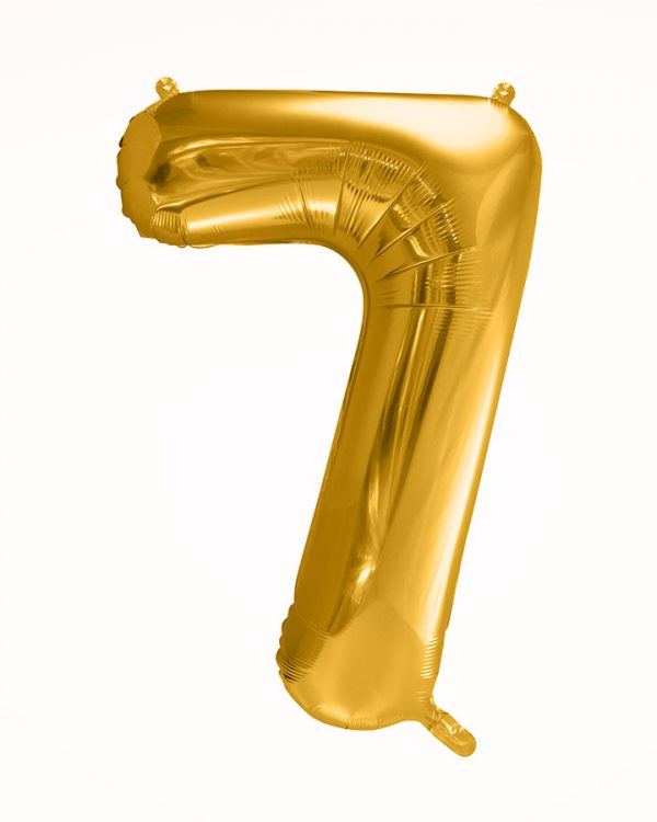 Balón číslo 7 zlatý