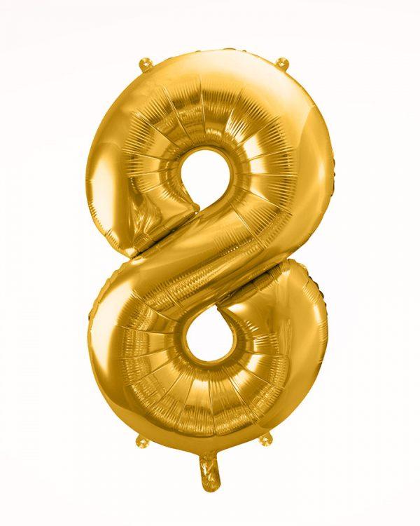 Balón číslo 8 zlatý